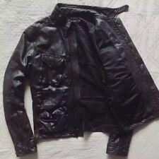 Ralph Lauren⚡️BLACK LABEL RARE lamb leather cafe racer moto biker jacket size S