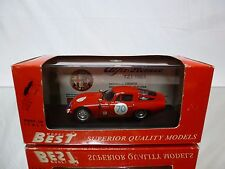 BEST MODEL 9062  ALFA ROMEO TZ1 TARGA FLORIO 1965 - RED 1:43 - NEAR MINT IN BOX
