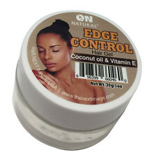 On Natural Edge Control Hair Gel Coconut Oil & Vitamin E 1oz