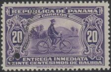 PANAMA 1929 SPECIAL DELIVERY BICYCLE MESSENGER Sc E4 PERF PROOF + SPECIMEN F,VF