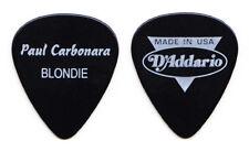 Blondie Paul Carbonara Black D'Addario Guitar Pick - 1999 Tour