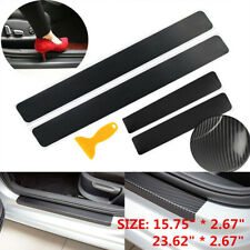4x Accessories Carbon Fiber 3D Sticker Car Plate Sill Door Sticker Protector