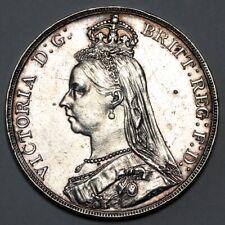 1887 QUEEN VICTORIA GREAT BRITAIN SILVER CROWN COIN
