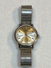 Lucien Piccard DUFONTE 17 Jewel Mechanical Mens Watch Speidel Bracelet Vintage