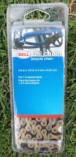 """Bell Uni-chain single speed bicycle bike chain NOS 1/2"""" x 1/8"""" gold grey. sealed"""
