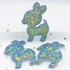 NEW 6Pcs 74mm Padded Deer Appliques for Decoration Stickers/Hair Bow/Sew Patches