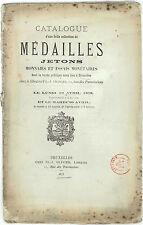 * Vente Olivier, Médailles Jetons Monnaies et essais monétaires, Bruxelles 1875
