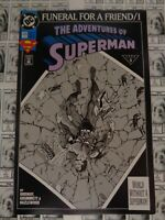 Adventures of Superman (1987) DC - #498, 3rd Print Variant CVR, Doomsday, VF-