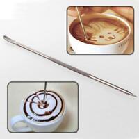 Stainless Steel Coffee Decoration Needle Latte Pen Barista Cappuccino Espresso--