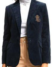 Lauren Ralph Lauren Women's Navy Blue Asimina Corduroy Jacket Blazer UK10 BNWT