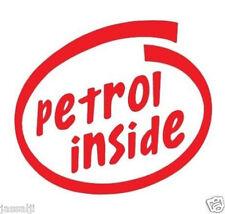 Petrol inside Black  Sticker (red)
