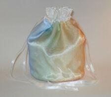 Satin & Organza Rainbow / Pink & Blue Splash Dolly Bag / Handbag Bride Wedding