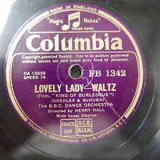 78 Rpm Henry Hall BBC danza Orq dama encantadora/sola en una mesa para dos