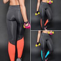 Womens High Waist Skinny Slim Gym Yoga Stretch Leggings Pant Sportswear Trousers