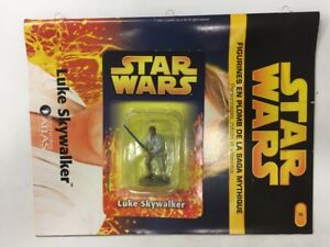 star wars figurine en plomb luke skywalker n2/60 neuve blister fascicule atlas