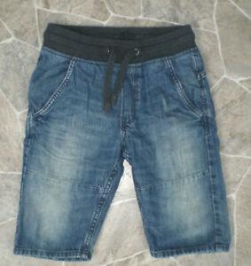 *H&M* Jungen Jeans Bermuda Jogger Shorts Gr. 134 Blau elastischer Strickbund!