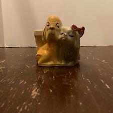 Vintage Shawnee Art Pottery Hound Dog and Pekingese Dog Planter