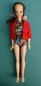 Vintage Mattel 1950 1960 Ponytail Barbie Doll Shoes Blue Brown Swim Suit Jacket