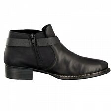 4ca75a6cf7 Rieker Women Ankle BOOTS Black 73660-01 UK 4 EU 37 Js21 29 Salew