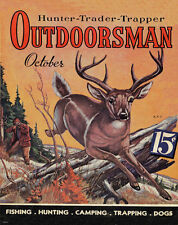 Whitetail Deer Hunting Magazine Poster Art Print Antlers Sheds Bow Arrow MAG31
