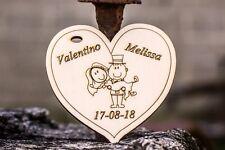 25 cuori sposini matrimonio bomboniera segnaposto etichetta confetti nomi date