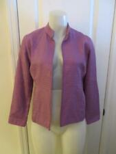 WOMENS EILEEN FISHER 100% SILK PURPLE DESIGNED BLAZER SIZE PS
