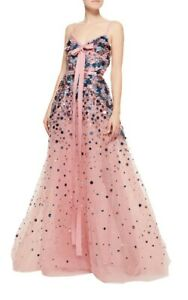 Elie Saab Embroidered Tulle Sequin Gown In Pink RRP £8,000