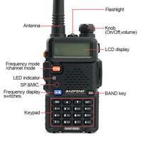 BF UV-5R Two Way Radio Scanner Handheld Police Fire HAM Wireless Transceiver