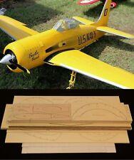 """86"""" wingspan F8F-1 Bearcat R/c Plane short kit/semi kit and plans"""