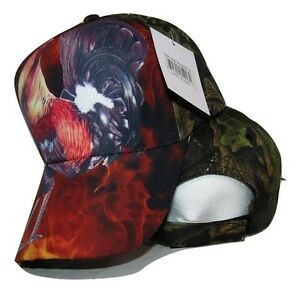 Chicken Rooster #4 Camo Camouflage Printed Baseball Cap Hat