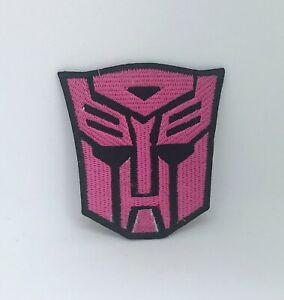 Transformers Film Movie Autobot Iron Sew On Embroidered Patch (Pink)