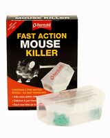 RENTOKIL FAST ACTION MOUSE KILLER TWIN PRE BAITED BOX KILLS MICE WITHIN 24 HOURS