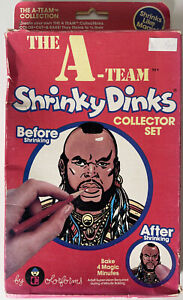 Rare 1983 Colorforms The A-team Shrinky Dinks Vintage Used Mr. T