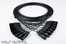 8 Channel Snake Cable 12' Foot Mogami 2932 Neutrik Gold XLR Male to XLR Female