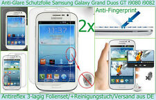 2 x Antireflex Display Schutz folie Samsung Galaxy Grand Duos i9080 i9082 matt *