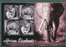 GHANA 2015 AFRICAN ELEPHANTS SHEET OF 4  STAMPS MNH