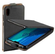 Eco Flip-Style Protect Case Tasche für Huawei Y5 2019 Schutz Hülle Etui schwarz