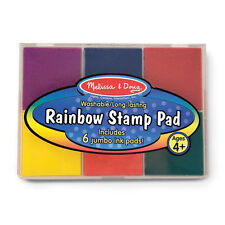 Melissa and Doug * Rainbow Stamp Pad * NEW 6 inks arts & craft activity toy