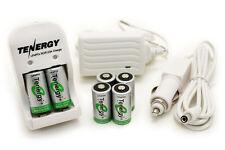 Kit: 6pcs Tenergy RCR123A 3.0V/3.2V Rechargeable LiFe Batteries + Smart Charger