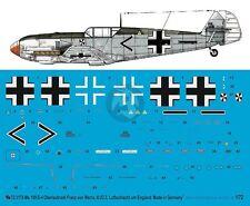 Peddinghaus 1/72 Bf 109 E-4 Markings Franz von Werra II./JG 3 England 1940 3179