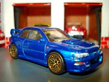 1998 SUBARU IMPREZA LIMITED EDITION 1/64 HW BLUE WITH REAL RIDER TIRES & DETAILS