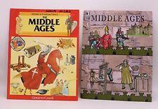 Lot (2) Paperback MIDDLE AGES Education Book & TIMELINE Home School Medieval