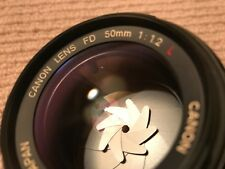 Canon 50mm f1.2 L (FD) Pro Prime Fast Lens (BuyNow =52mm UV filter +Vented Hood)
