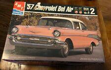 1957 Unbuilt Chevy Bel Air Hard Top Model Car Kit By Amt Ertl