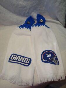 New York Giants NFL Football Handmade Set of 2 Hand/Golf/Bar/Fridge Towels NEW