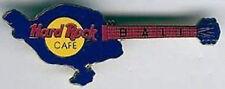 Hard Rock Cafe BALI 1990s Dark Blue Guitar Map Shape PIN