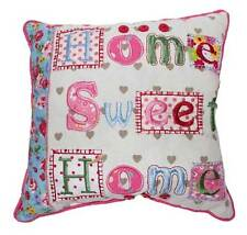 Cute ~ Home Sweet Home ~ Shabby Chic Colorful Cotton Cushion Pillow