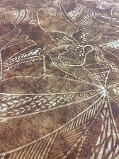 Ralph Lauren OUTDOOR Upholstery Fabric- Native Orchid Floral / Raffia  2.25 yd