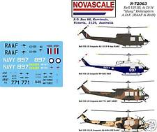 """ADF UH-1B, D&H Iroquois """"Huey"""" Decals 1/72 Scale N72063"""
