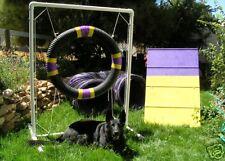 Dog Agility Mini A-Frame & 10' tunnel Tire Jump Combo!